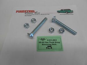 1955-1956-1957-Chevy-21-161-GAS-MOUNTING-STRAP-BOLT-KIT