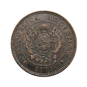 KM-32-1-Centavo-Argentina-1891-F