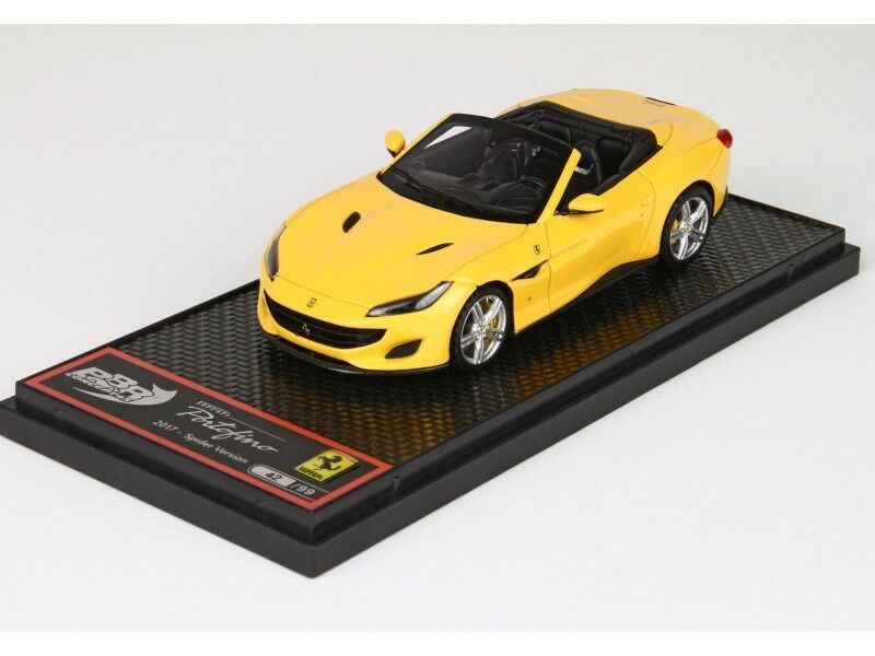 BBR  Models 1 43 Ferrari Portofino Spider jaune Modena Modellino  expédition rapide dans le monde entier