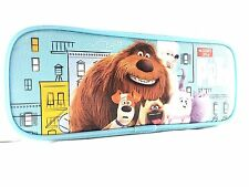"""Disney The Secret Life Of Pets  8"""" Blue Pencil Case"""