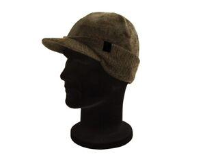 Fox Khaki Black Peaked Beanie CHH002 Wintermütze Mütze Angelmütze Winterhat