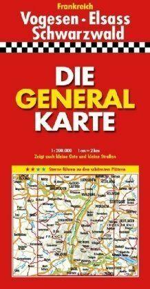 Die Generalkarte Vogesen, Elsass, Schwarzwald 1 :200 000 | Buch | Zustand gut