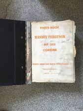 Parts Book Manual For Massey Ferguson 205 300 Amp 750 Combines Big Book
