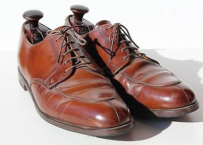 Cole Haan 13B Polished Brown Split Toe Oxford Dress Shoes - Italy - $248.00