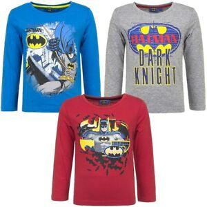 Boys-Kids-Children-Batman-Long-Sleeve-Cotton-Tshirt-Top-T-shirt-age-2-8-years