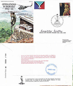 11 AUG 1995 OPERATIONS IN BORNEO HAND SIGNED SIR WALTER WALKER COVER BFPO SHS