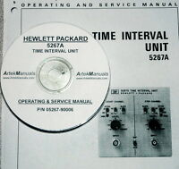 Hewlett Packard Operating & Service Manual For The 5267a Time Interval Unit