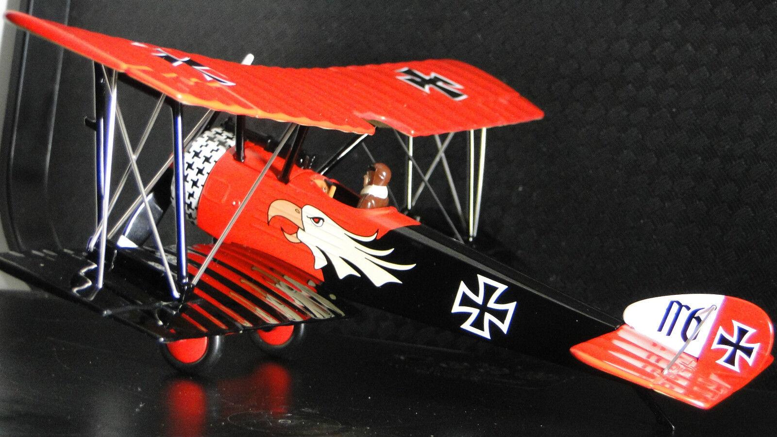 Red Barron 1 Airplane Aircraft Metal Metal Metal Diecast Model Vintage Antique War Bird 48 b765ef