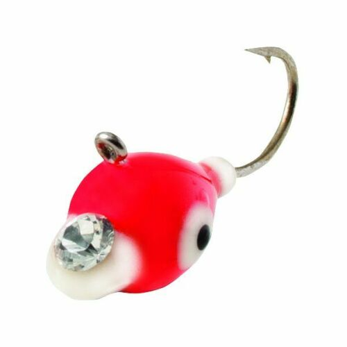 Clam Epoxy Drop Jig 7//64 oz Ice Fishing Jig Orange White
