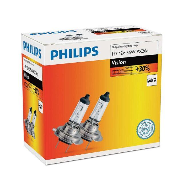 2x PHILIPS H7 Vision 12V 55W PX26d Lámpara halógena faros vehículos 12972PRC2