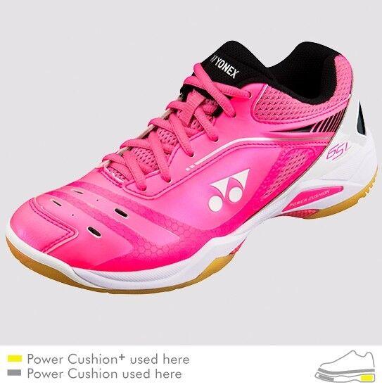 Yonex Power Cushion 65Z Badminton Fast/Light Schuhes SHB65ZL Bright Rosa, Fast/Light Badminton Footwork a3df34