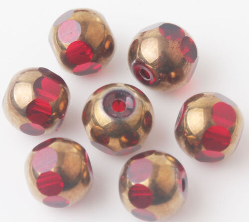 20//40Pcs 8 mm Washer à facettes verre cristal Finding Charms Loose Spacer Beads