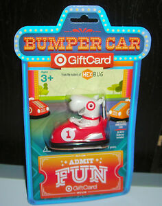 Target Gift Card No Cash Value Bullseye Red Bumper Car Toy