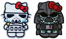 Velc. Star Wars Hello Kitty Stormtrooper + Darth Vader Morale Patch set of 2pcs