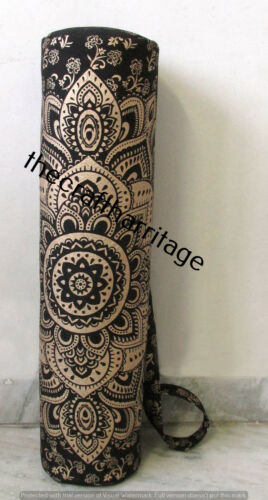 Indian Mandala Yoga Bag Hippie Gym Mat Carrier Bags With Shoulder Strap Throw