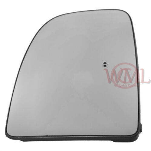 PEUGEOT BOXER 2006-/>2015 DOOR//WING MIRROR GLASS SILVER,NON HEATED /&BASE,LEFTSIDE