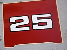 NEW OEM OUTBOARD NEW MERCURY 25 DECAL AS SHOWN IN PICTURE