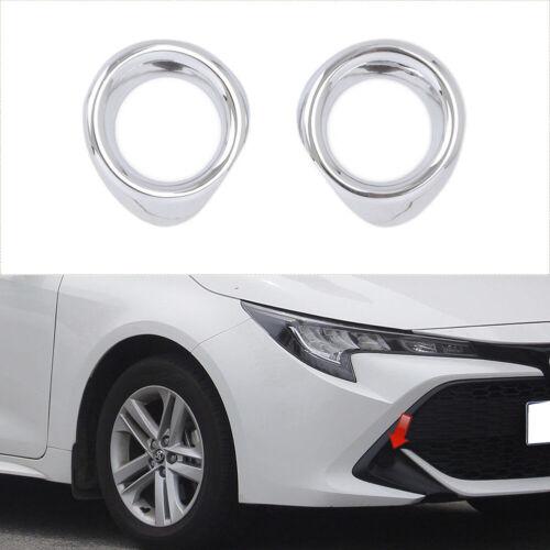 Chrome Front Fog Light Lamp Cover Trim fits Toyota Corolla Hatchback 2019 2020