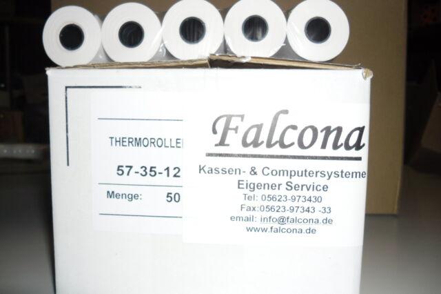 HKR-Welt EC-Cash Rollen 57mm x 15m x 12mm mit Lastschrifttext 30 EC-Cash-Thermorollen /Ø 37mm
