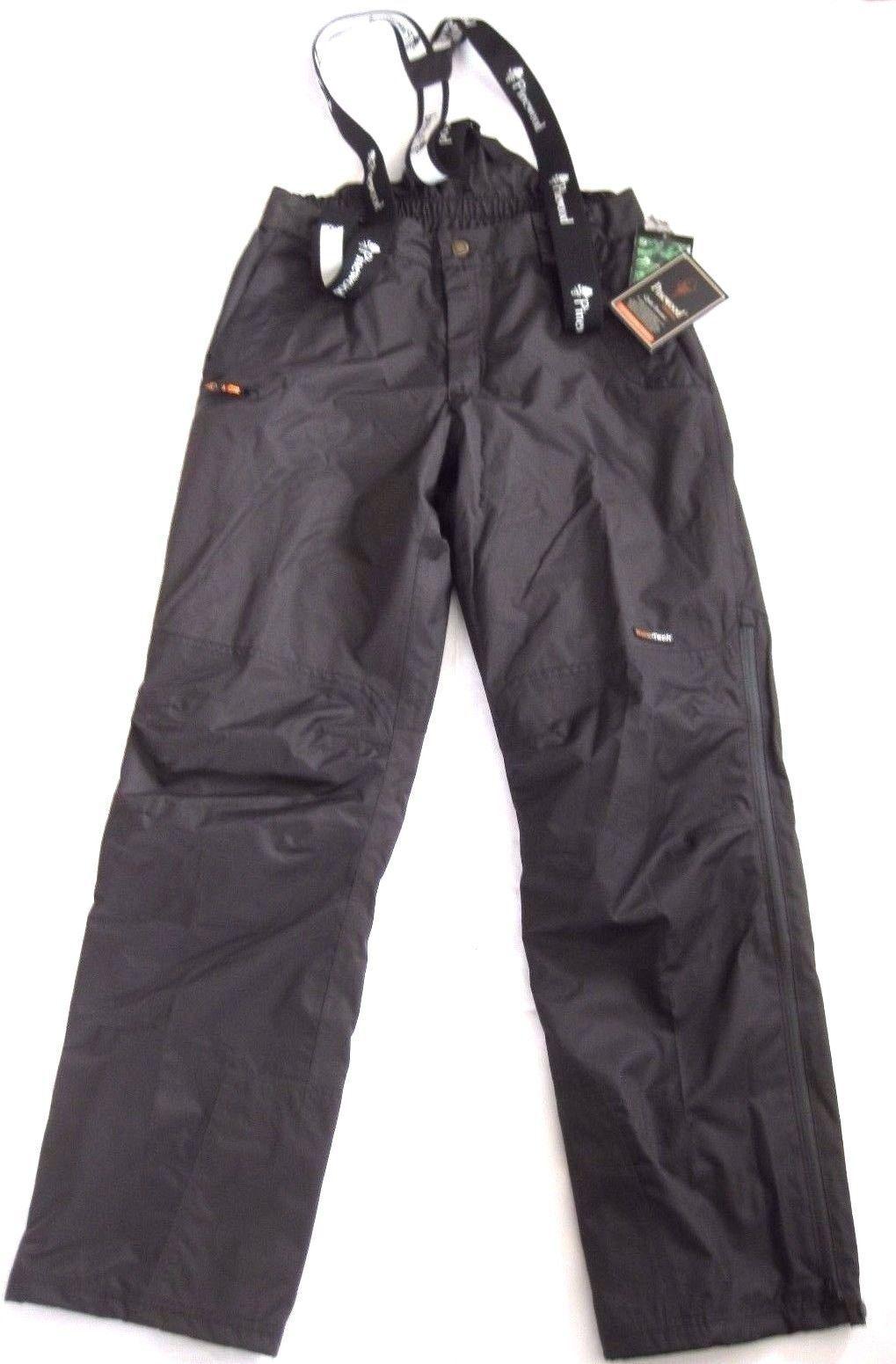 Pinewood Wengen Männer Regenhose mit Stretch Hosenträger wasserdicht schwarz S,M,L