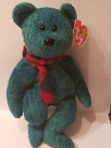 Ty Beanie Baby Wallace Stuffed Toy Plush Bear Retired Rare with ... 2672deda99c