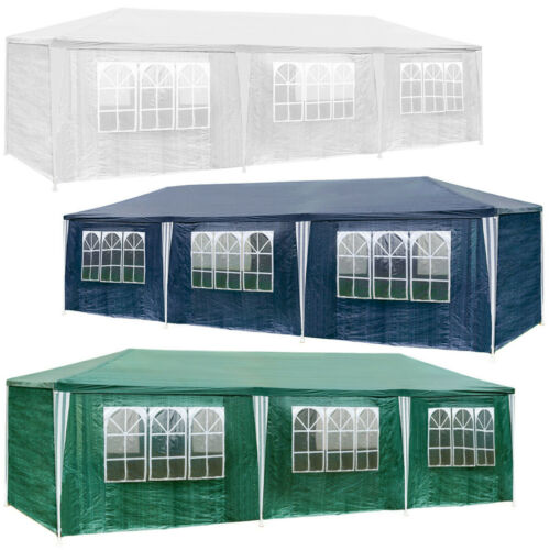 Tonnelle de jardin barnum auvent chapiteau tente pavillon de jardin 9x3 m