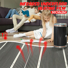 60°C Electric Home Floor Infrared Underfloor 220V Heating Warm Film Mat 50cmx2m
