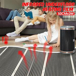 60-C-Electric-Home-Floor-Infrared-Underfloor-220V-Heating-Warm-Film-Mat-50cmx2m