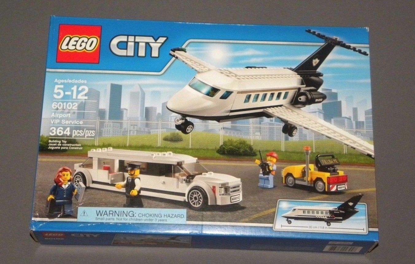 Lego Stadt Flughafen Vip Service Set mit Limo, Flugzeug Limousine 60102 Neu Ovp