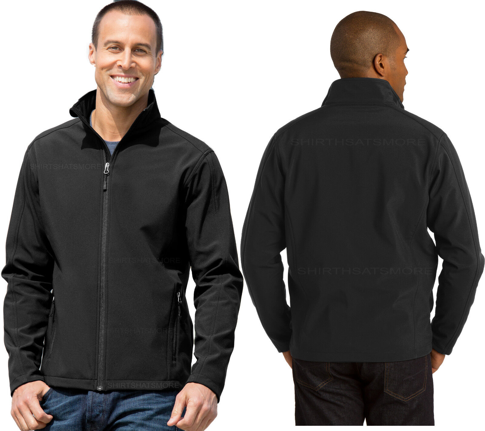 Para Para Para hombre negro chaqueta de cáscara suave autoridad central con Forro Polar Micro Tamaños S-2X aa00c4