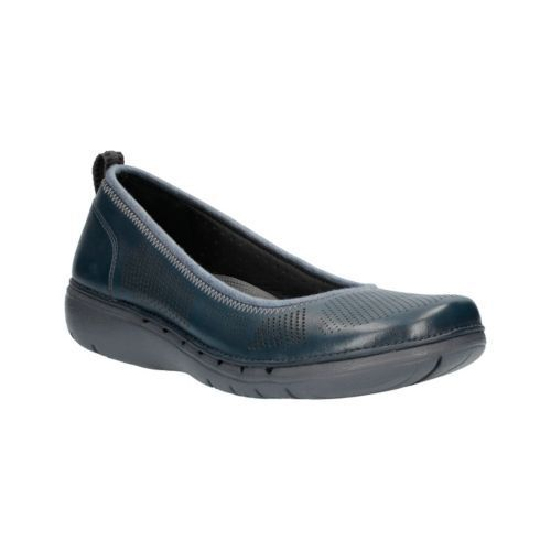 taglia in Elita Un Uk scuro Unstructured Bnib Clarks taglia Scarpe blu 6d pelle wCq8HH4