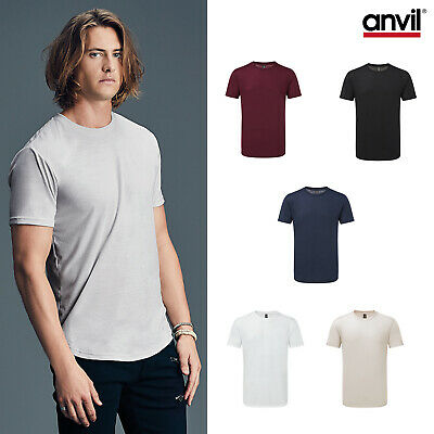 Beliebte Marke Anvil Adult Curve Tee 900c -men Round Hem Short Sleeve Polyester Wicking T-shirt 2019 Offiziell