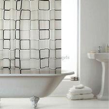 LUXURY BATHROOM SHOWER CURTAINS WITH HOOKS 1.8m x 1.8m CURTAIN BATH ACCESSORIES