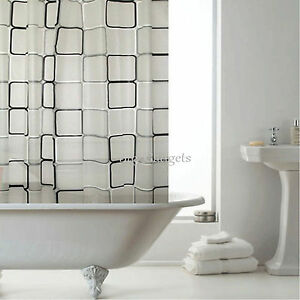 Image Is Loading Luxury Bathroom Shower Curtains With Hooks 1 8m