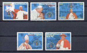 37320-Guatemala-1996-MNH-Pope-John-Paul-II-5v