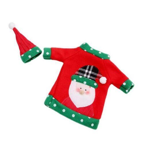 Noël Bouteille Couvercle cadeau orignal Pull Costume emballage Vin