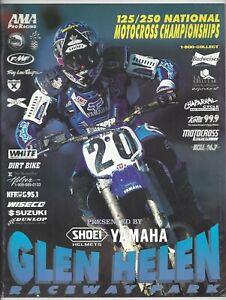 Vintage Glen Helen Nationals 1997 AMA Motocross Program Doug Henry Yamaha