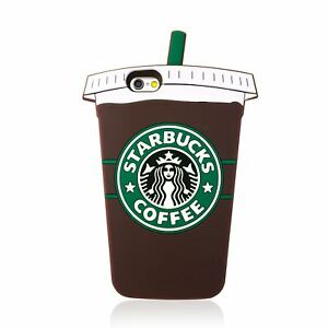 quality design 597ba 18c3b Details about 3D STARBUCKS COFFEE CUP SILICONE CASE COVER FOR IPHONE 7 7  PLUS 6S 6S PLUS 5 SE