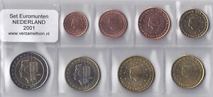 NEDERLAND-UNC-EURO-SET-2001-serie-van-8-munten-1-cent-t-m-2-euro