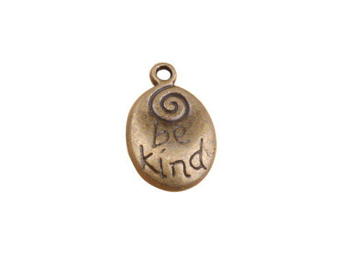 20PCS Antiqued Bronze Be Kind Teardrop Charms #91325