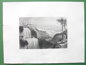 ITALY-Tivoli-Antique-Print-Vintage-Engraving