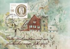 Liechtenstein FDC Ersttagsbrief Karte 2012 Weihnachten Mi.1659