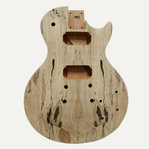 Coban Guitars Electric Guitar DIY Kit LP711 Bolt on Spalted Chrome Cream Fitting