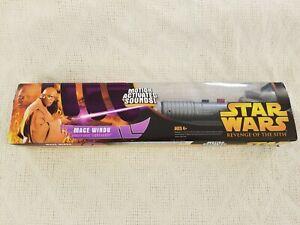 Star Wars Revenge Of The Sith Mace Windu Electronic Lightsaber 2005 Hasbro New 653569013075 Ebay