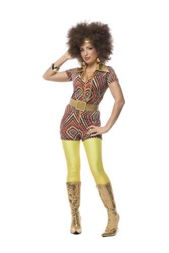 70er 80er Années Robe Costume Flowerpower Femmes Hippie Hippy Hippie Costume Fête