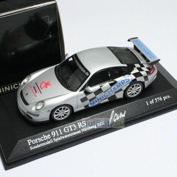 MINICHAMPS SPIELWARENMESSE NURNBERG PORSCHE 911 GT3 RS SONDERMODELL POR000031