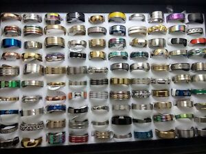30Pcs wedding Couples Mens women band  stainless steel rings Jewelry Wholesale