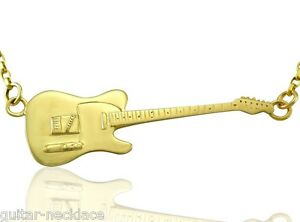 Mens Solid Gold Rick Parfitt Fender Telecaster Electric Guitar