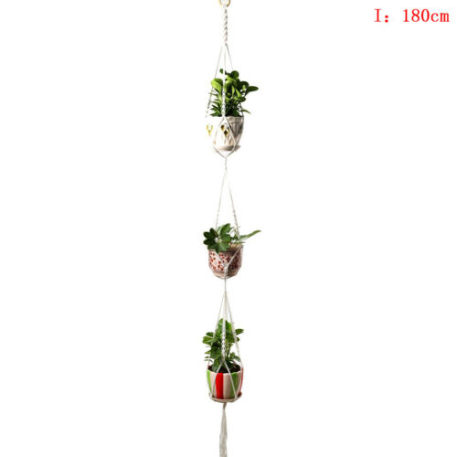 Garden Plant Hanger Macrame Hanging Planter Basket Rope Flower Pot Holder DecHA