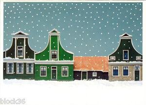 Folding-postcard-WINTER-STREET-SCENE-in-ZAANSE-SCHANS-by-Jerry-Harberink
